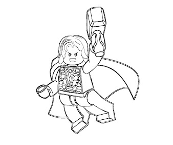 #1 Lego Coloring Page