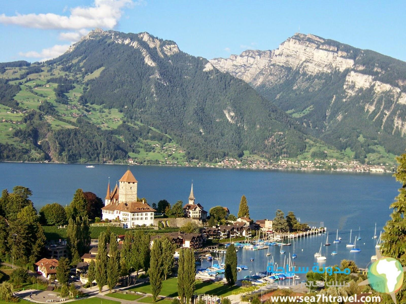 رحلة الي بحيرة ثون الساحرة في سويسرا