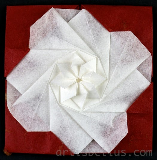 Origami Decorations: Framed Flower