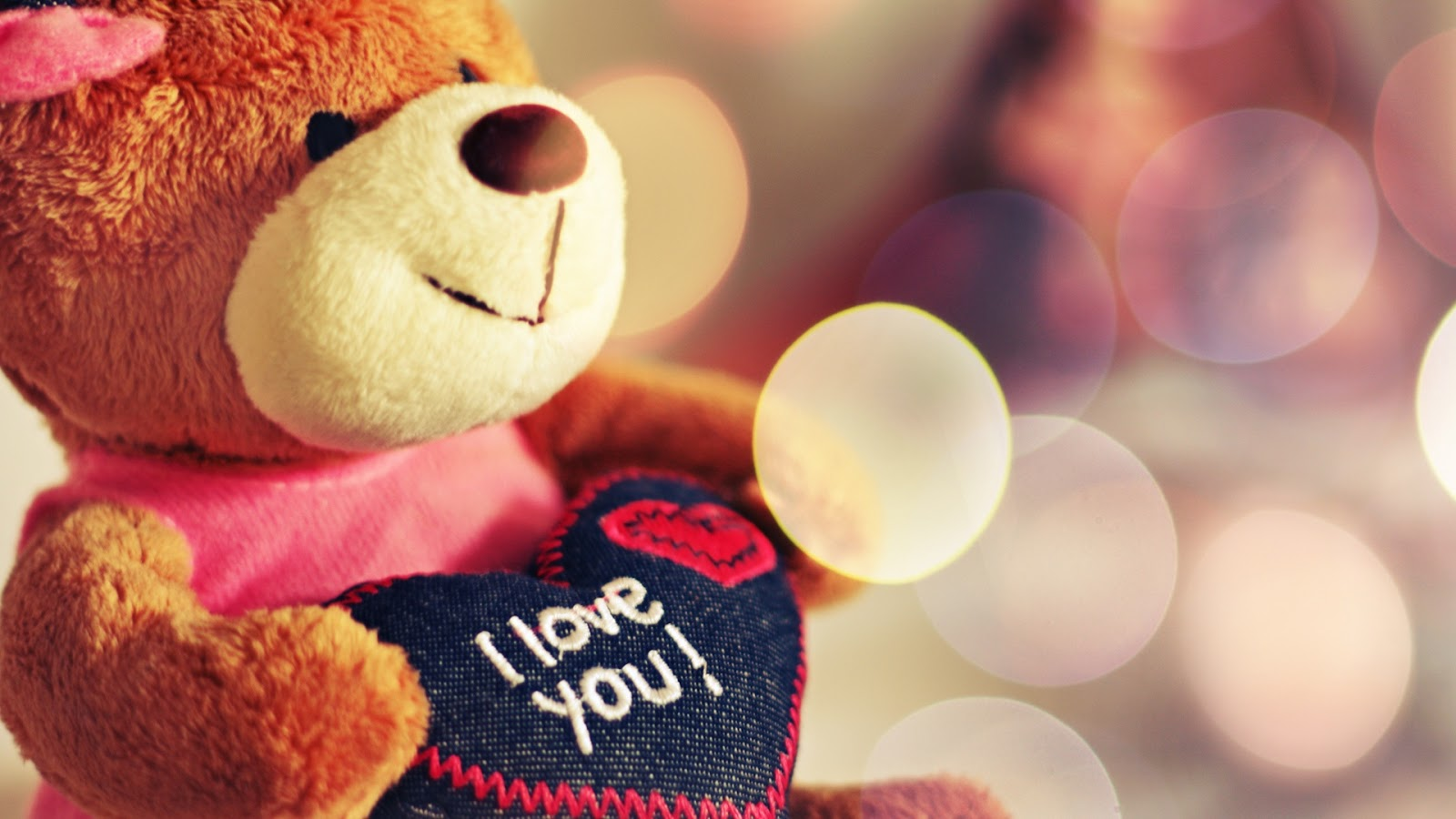 I Love You Teddy Bear 1920x1080 Wallpaper
