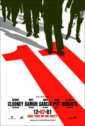Ocean's Eleven (Released in 2001) - Starring George Clooney, Brad Pitt, Matt Damon, Don Cheadle, Andy García, and Julia Roberts