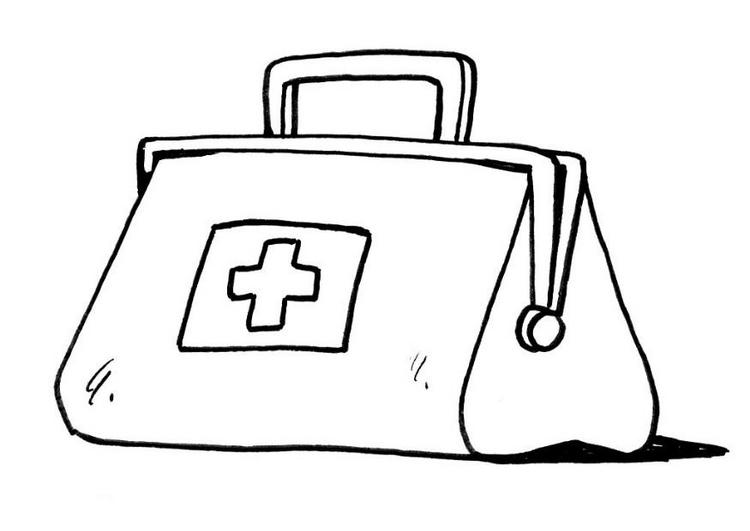 Doctor Bag Coloring Page