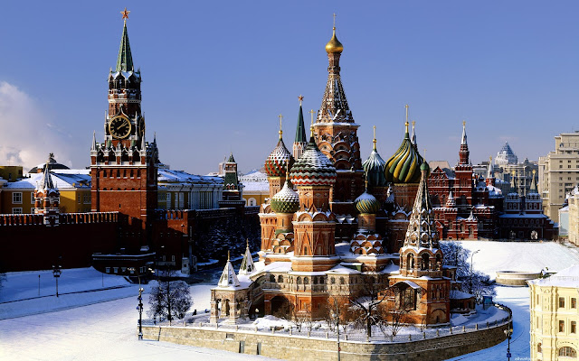 Saint Basil Cathedral Moscow City Russia
