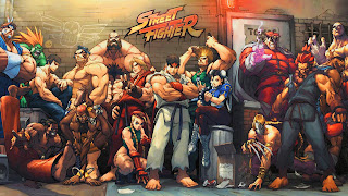 The old school game street fighter desktop wallpaper
