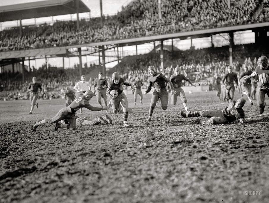 Partido fútbol americano universitario 1925