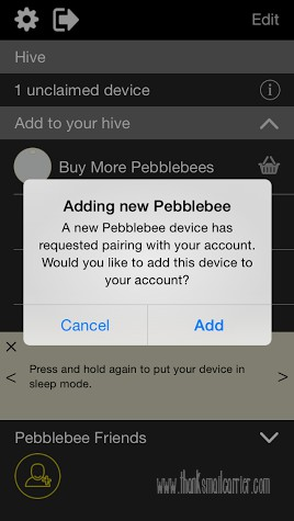 Pebblebee Honey pairing