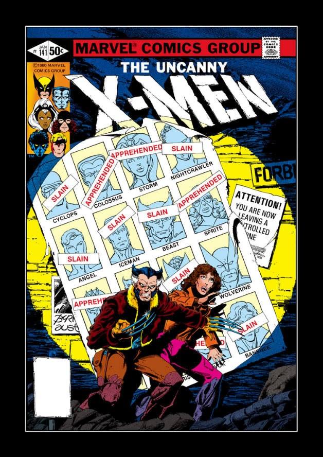 La portada original de Uncanny X-Men 141