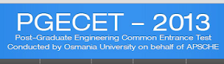 OU AP PGECET 2013 Hall Tickets Or Admit Card Download at appgecet.org