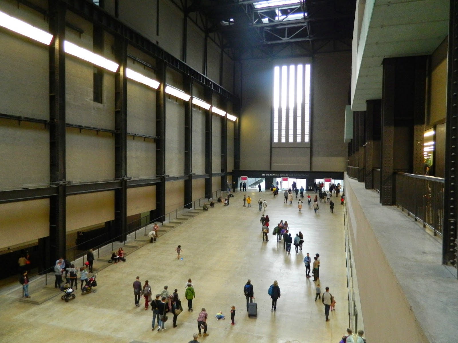 tate gallery inside architecture industrial people lines