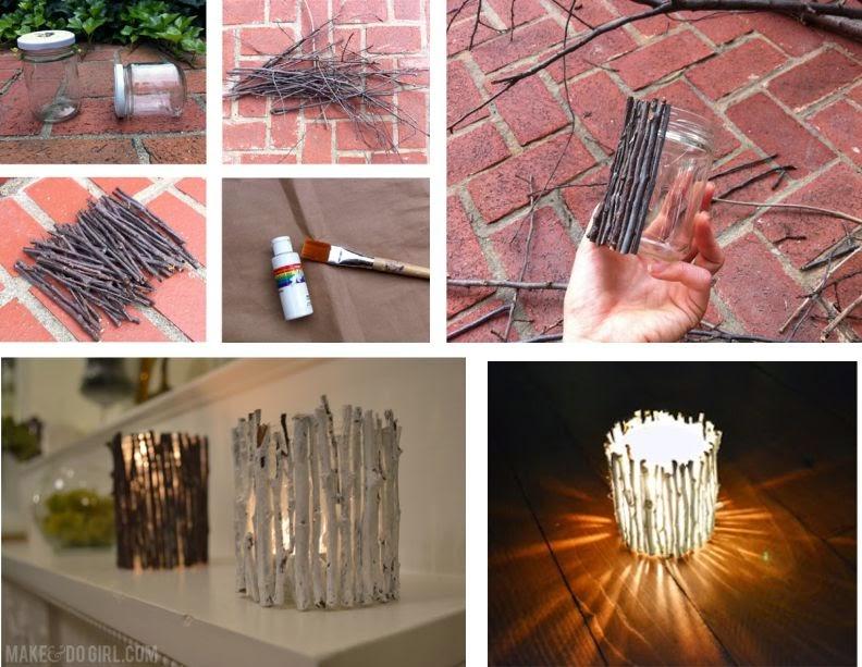 DIY: Velas con Trocitos de madera