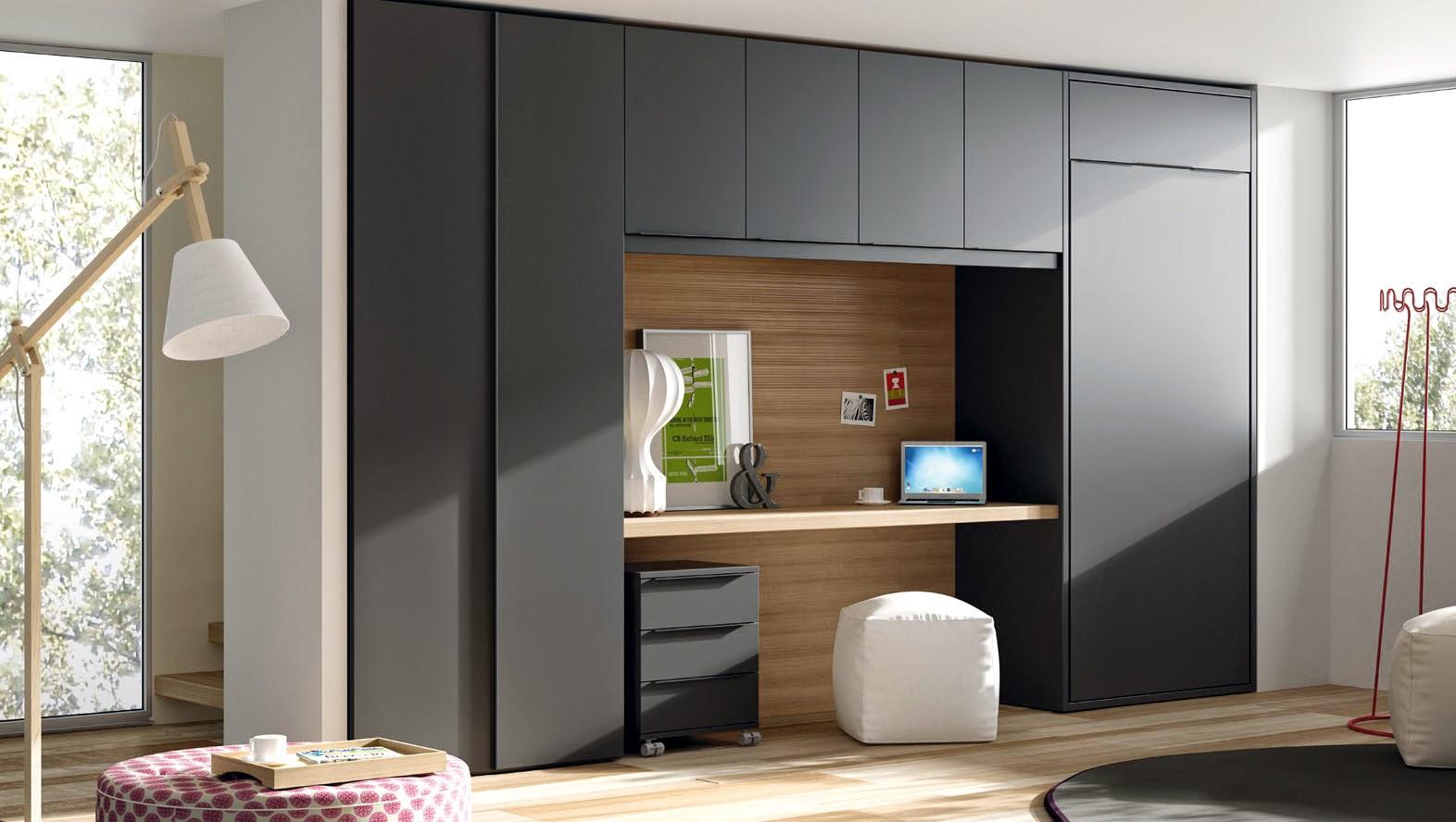 habitacion juvenil con cama abatible vertical