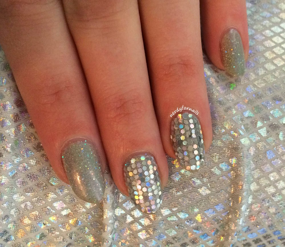 Orly Mirrorball with Glitter Placement