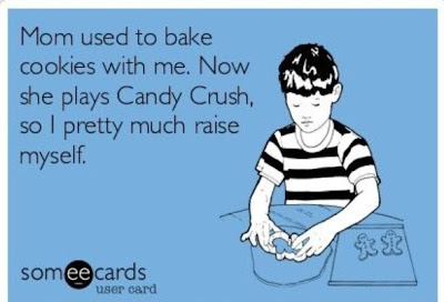 Top Mom Addictions - Playing Candy Crush ~ TheQuirkyConfessions.com