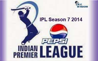 IPL 7 Schedule - IPL 2014 Fixtures for UAE And Indian Matches
