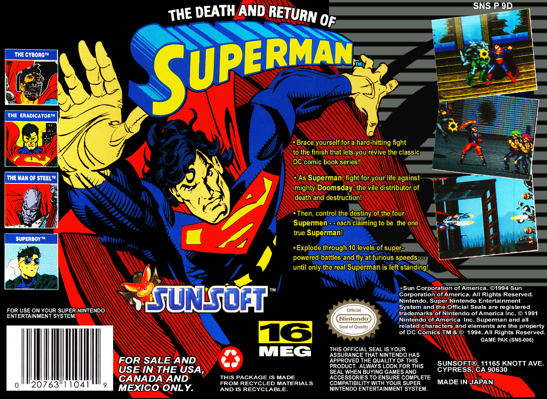 [VideoGames] Del Comic a las Consolas - Página 2 The+Death+and+Return+of+Superman+(back)