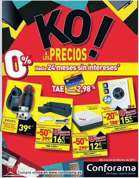 conforama KO a los precios febrero 2014