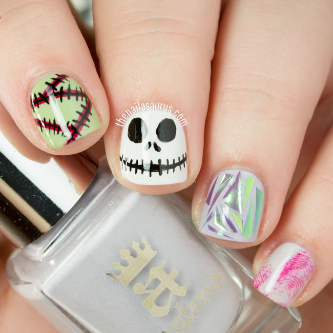 Happy Halloween! Skittlette Nail Art