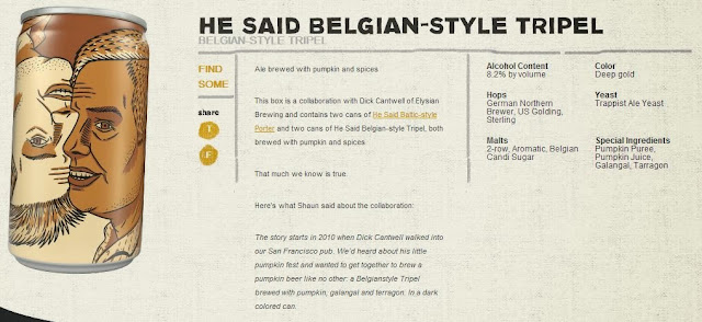 He Said Belgian-Style Tripal | Click For Larger