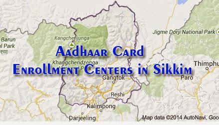 Aadhaar Card Enrollment Centers in Sikkim