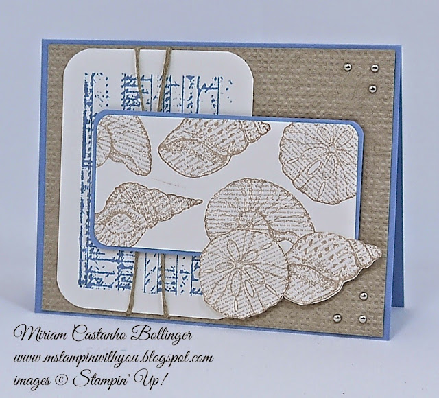 Miriam Castanho Bollinger, #mstampinwithyou, stampin up, deonstrator, F4A 273, by the seashore, the open sea stamp set, linen thread, square lattice tief, texture boutique machine, silver mini brads, su