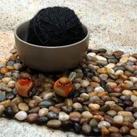 Fußmatte aus Steinen selbermachen