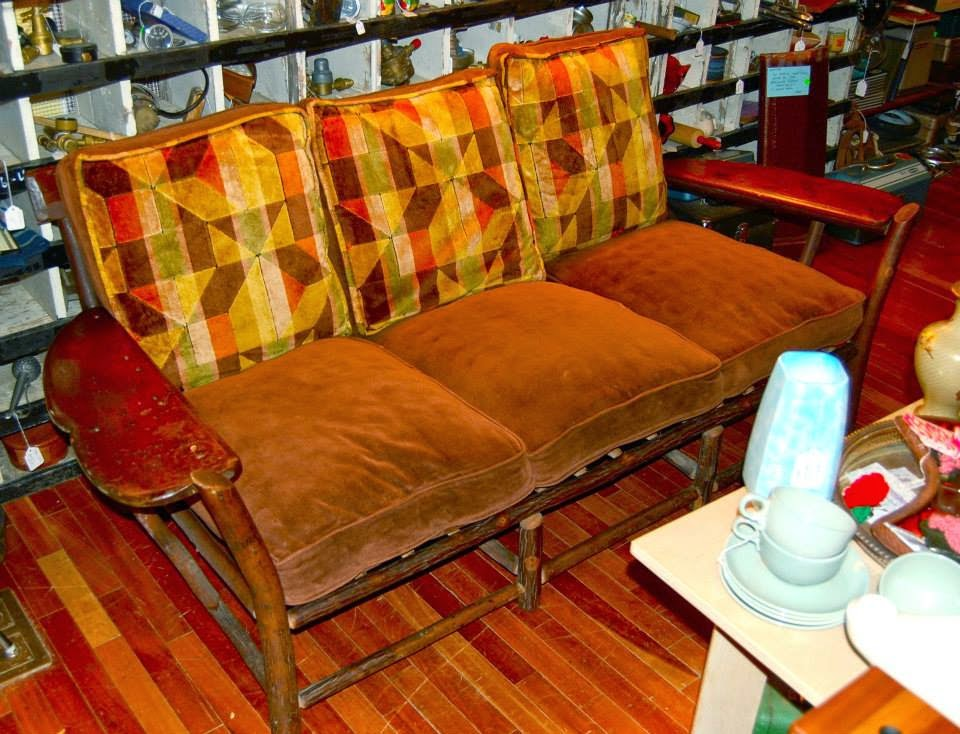 We also have this rare piece from the 40's-50's in stock. Huge coffee table  with lazy Susan. Both are well-marked with the Old Hickory brand. - Hazel Home Art And Antiques Wausau, Wisconsin: The Old Hickory