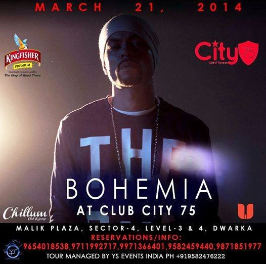 BOHEMIA LIVE AT City 75 PUB & PATIO - DWARKA - 21st MARCH