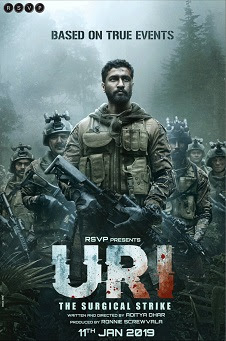 Poster Of Bollywood Movie Uri: The Surgical Strike 2019 300MB Pdvd Full Hindi Movie