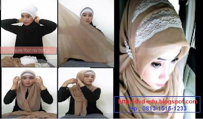 Cara Memakai Jilbab dengan Headband