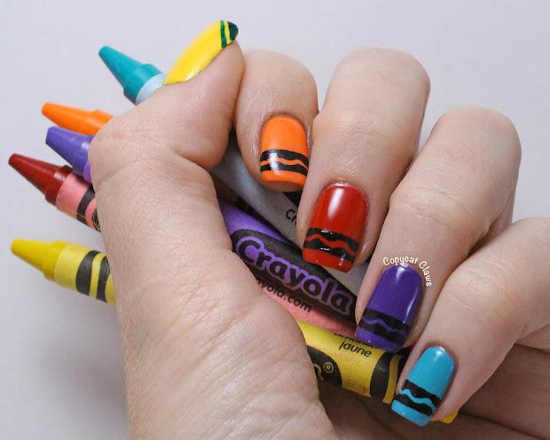 copycat claws crayon nail art