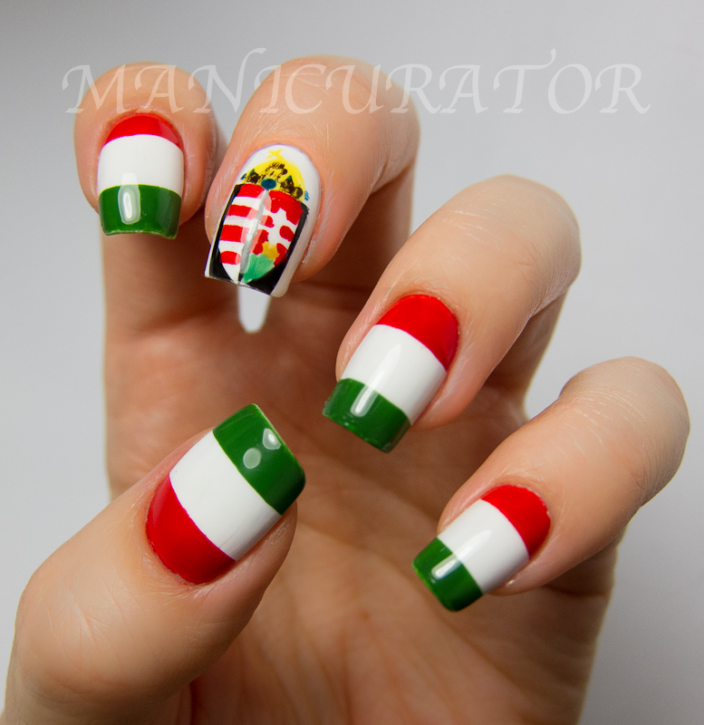 Inspired By A Flag (Hungarian Flag Nail Art