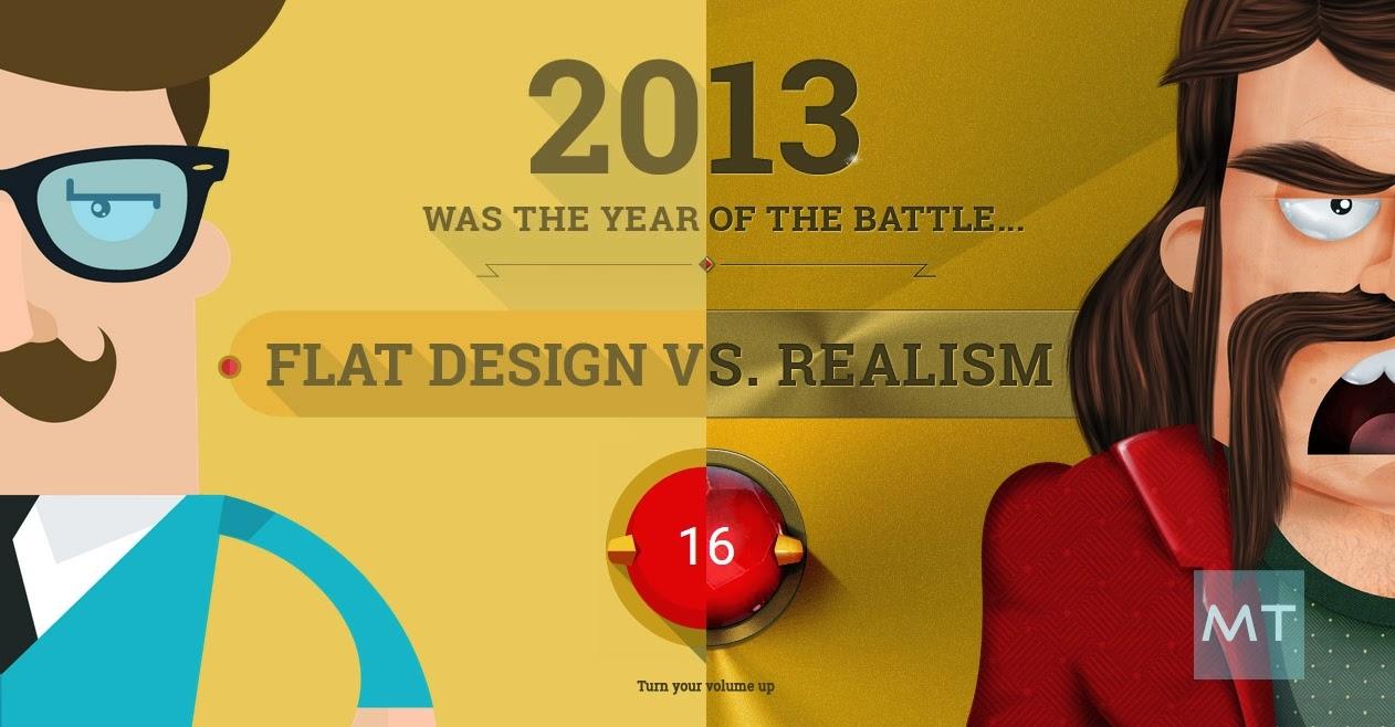Yang mana yang desain flat dan realistis ?