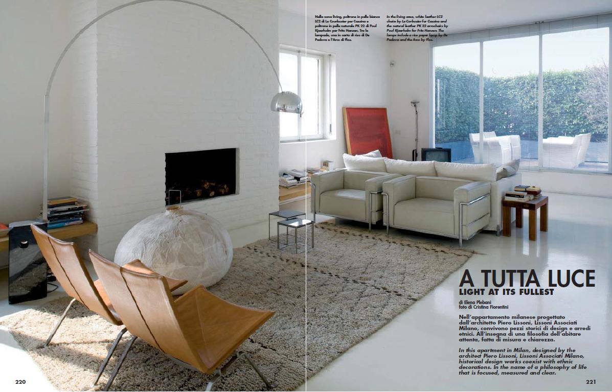 Piero Lissoni's Apartment Featured in DDN Magazine