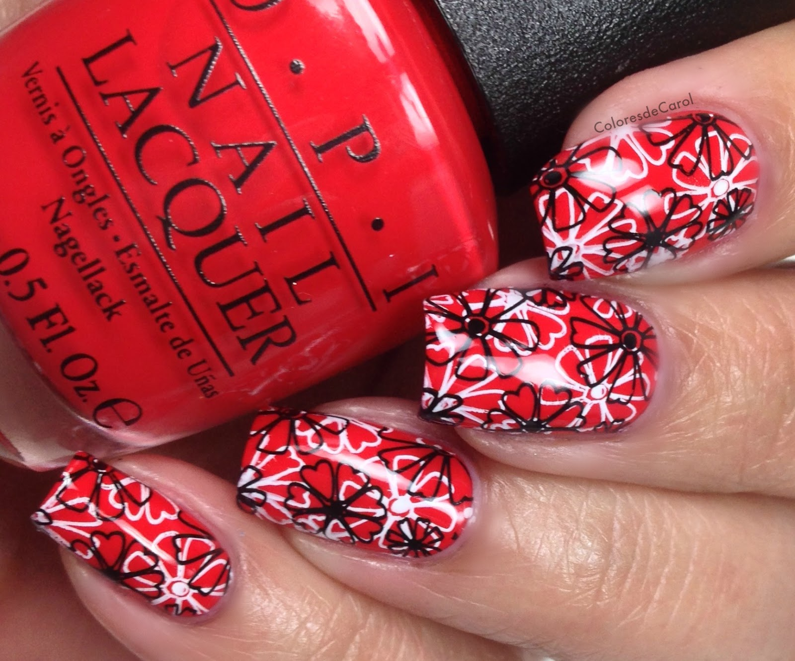 Colores de carol opi coca cola nail art sorry im fizzy today stamped using the plate w04 from winstonia and mdu red stamping polish prinsesfo Gallery