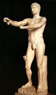 Aproximeno. Obra de Lisipo. Escultor griego del siglo IV AC. Grecia. Turismo en Grecia