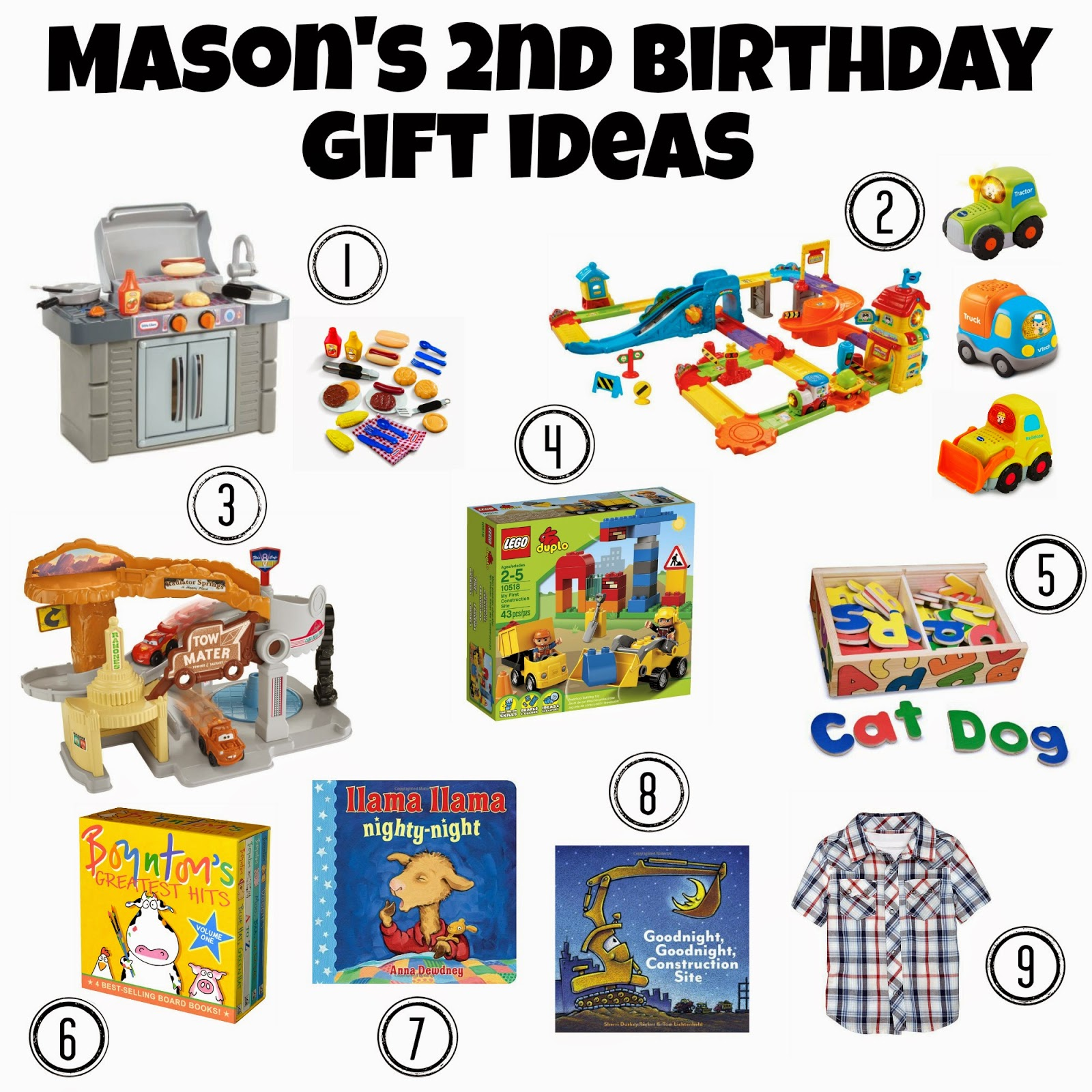 chasin' mason: [2nd birthday] gift ideas.