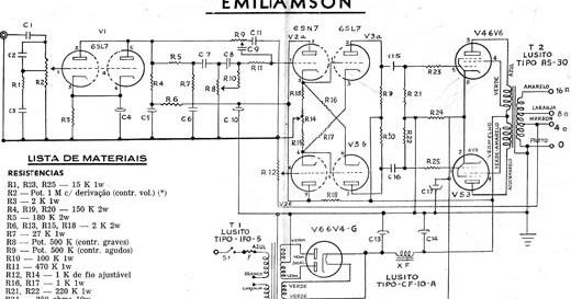 Circuito Amplificador : Valvulares circuitos circuito emiliamson amplificador de w