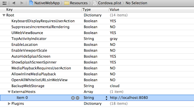 Apache Cordova allow access to external host in Xcode