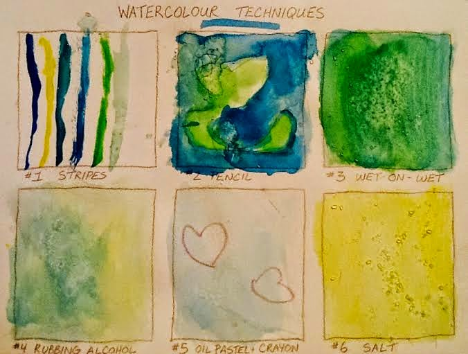 Watercolor techniques for kids