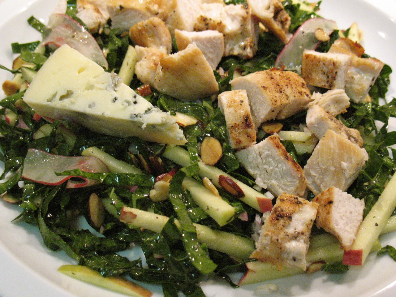 Chicken Salad With Walnuts, Apples And Bleu Cheese Recipe — Dishmaps