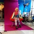 Fatin Shidqia saat interview & pemotretan