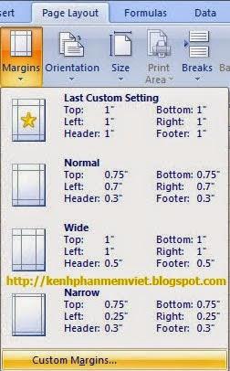 Sao chép thiết lập Page Setup sang Sheet khác trong Excel 2007