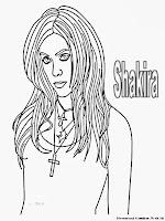 Mewarnai Gambar Shakira