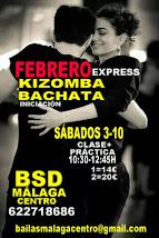 FEBRERO EXPRESS SÁBADOS 3-10 EN BSD BAILAS MÁLAGA CENTRO.