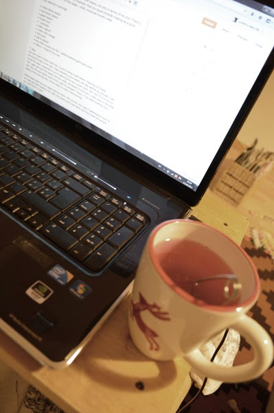 sunday tea drinking and blog post writing