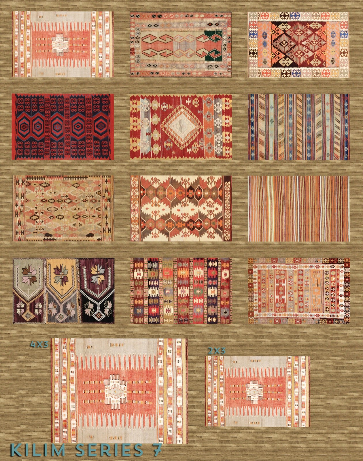 My Sims 4 Blog Kilim Stools Coffee Table Ottomans And