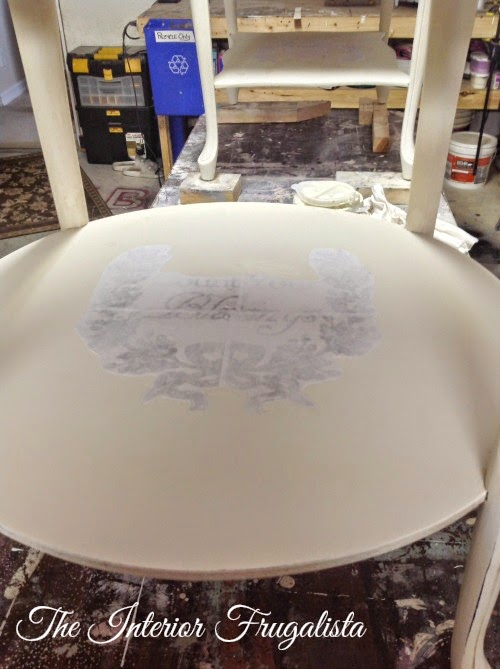 French Provincial side table image transfer 1