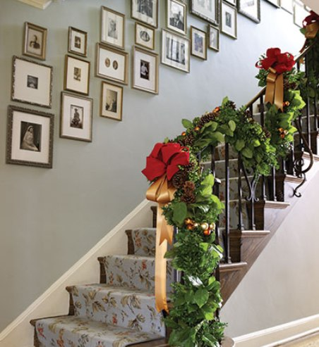 Decora tu casa accesorios para decorar la escalera en navidad for Accesorios para decorar la casa