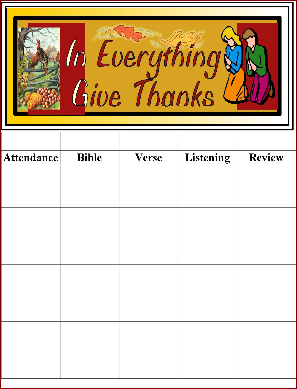 Harvest blessing in my treasure box thanksgiving party supplies