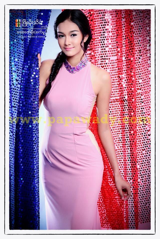 May Myat Noe - Myanmar Model With Pinky Fashion Dress Photoshoot